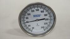 """Wika 52040D207G4 TI.52 Thermometer 5"""" Dial 20-240F 4"""" Stem Adjust 90 Degree 1/2"""""""