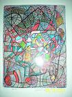 Howard Perlmutter original color markers on paper framed gallery label 1990 rare