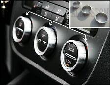 3 x ARGENTO COPRI CONTORNI PULSANTI DI VENTILAZIONE per VW PASSAT B6 2005-2010