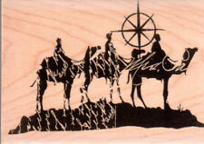 NEW STAMPINGTON & CO RUBBER STAMP camel silhouette religious Christmas wisemen