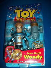 SPACE SHERIFF WOODY Action Figure TOY STORY MATTEL 1998 MOC CARD OPENED PIXAR