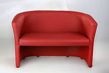 Doppel Bank Cocktailsessel Sessel Clubsessel Loungesessel Club Möbel rot Neu