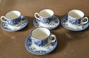 Staffordshire Tea/coffee  1×4 Cups And Saucers