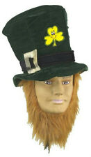 St. Patrick's Day Costume Party Accessory Green Irish Hat with Beard