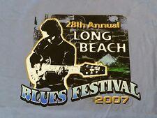 2007 Long Beach Blues Festival Size XL  Purple Tank Top Shirt  Little Richard