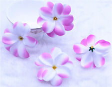 Pink Plumeria 20P Artificial silk flower Heads Hawaiian Frangipani Crafts Decor