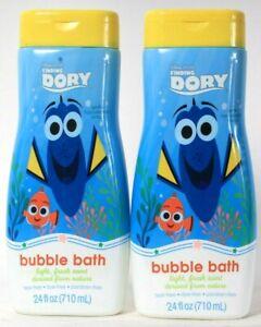 2 Bottles Disney Pixar Finding Dory 24 Oz Light Fresh Scent Gentle Bubble Bath