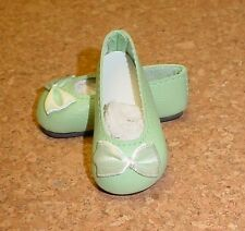 "Doll Shoes, 50mm LT GREEN (Royal) Slip-ons fit P90 Toni. 14"" Betsy, Hopsco Hill"
