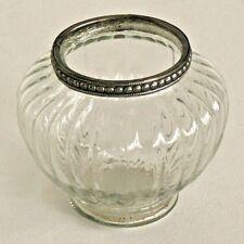 style antique grand verre transparent ampoule forme support lampe thé