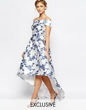 CHI CHI London Extreme High Low Printed Midi Dress | UK 8 | NEW WITH TAGS