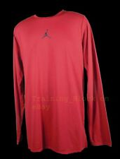 Nike 23 Alpha Dry Long Sleeve Shirt Top Large Dri-Fit Large 861539-678 Gym Red