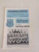 1960's  Tottenham  Football Programmes - Various Fixtures