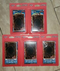 Yugioh 2 Legendary packs Legend of Blue Eyes White Dragon Blister LOB (Lot of 5)