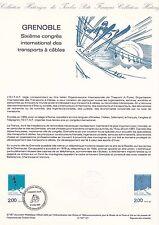Document Philatélique Timbre 1er Jour : 17/06/ 1987 - Grenoble Congrès
