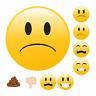 Sticker EMOJI NICHT GUT gelbe Aufkleber Smiley Gefühle Stickerbogen Bewertung