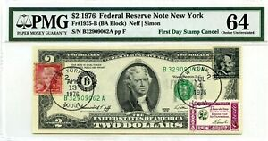 $2 DOLLARS 1976 FIRST DAY STAMP CANCEL A. LINCOLN & THOMAS JEFFERSON $10000
