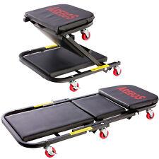 Carrello per montaggio 2 in 1 fino a 150 kg carrellino sgabello da officina
