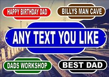 Personalised railway station sign reproduction novelty train station signs