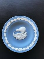 Wedgwood Jasperware Blue Round Kiwi Pin dish in excellent condition .