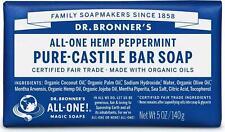 Dr Bronner's / Bronners Hemp Peppermint Pure-Castile Magic Bar Soap Organic