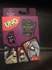 The Nightmare Before Christmas UNO Brand NEW!! Jack - Sally - Oogie Rare