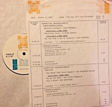 RADIO SHOW: B'DAYS 8/6/87 RICHARD HARRIS, GLEN CAMPBELL, BROOKLYN BRIDGE, McCOYS