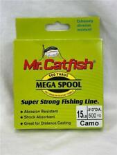 * Mr. Catfish 500 Yard Mega Spool Super Strong Fishing Line Camo 15Lb Cfs15Cm