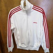 rare vintage Adidas track jacket Size L originals retro white red adi 3 stripes
