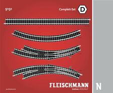 Fleischmann N 9191 complett-set D - NUOVO + conf. orig.