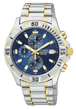 Citizen Men's AN3394-59L Chronograph Blue Dial Two-Tone Band 39mm Watch