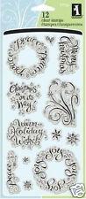 Inkadinkado Clear Stamps WARM HOLIDAY WISHES 97734 XMAS