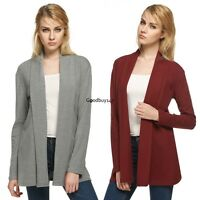 Women Open Front Cardigan Loose Jacket Coat Long Sleeve Top Shirt Sweater new