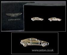 Anthony Holt Rodio Plateado genuino Aston Martin DB9 Plata Gemelos