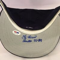 Yogi Berra Signed Inscribed Authentic Houston Astros Baseball Cap Hat Psa Dna