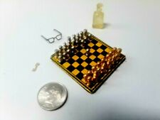 """Chess Anyone It'S Your Move 1/12"""" Scale Doll House Miniatures"""