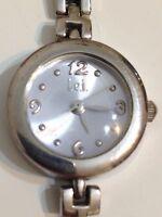 Lei Ladies Designer Silver Tone Working Quartz Watch
