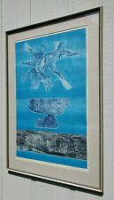 "GABOR PETERDI ABSTRACT MODERNIST ETCHING ""SNOW BIRD"" MID CENTURY MODERN VINTAGE"