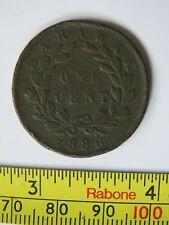 Vintage 1886 Sarawak CB Brooke Rajah One Cent Coin