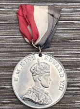 British Made Coronation Medal & Ribbon King Edward VIII May 1937