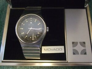 Vintage 70's Movado Defy Zenith Surf Stainless Steel Automatic Men's Watch