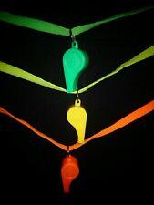 Neon 12 x Whistle Concert Carnival Festival Sports Training Yellow Green Orange