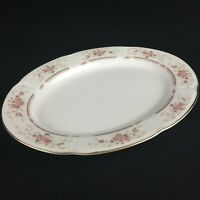 "VTG Serving Platter 12 1/4"" Royal Crown RCW31 Fine China Floral Bouquet Japan"