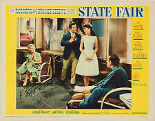STATE FAIR - 1962 - LOBBY CARD - AUTOGRAPHED BY PAT BOONE & TIM EWELL - RARE