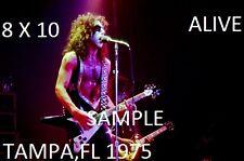 Kiss 1975 Paul Stanley 8 X 10 Color Photo 1 Tampa,FL