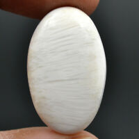 Cts. 23.30 Natural Chatoyant High Grade Scolecite Cabochon Oval Loose Gemstone