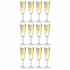 Plastic Outdoor Champagne Flutes. Strong Dining Drinking Cups Glasses - x12