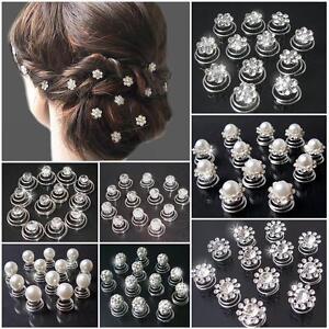 Curlies Haarschmuck Strass Perlen Perlencurlies Hochzeit Kommunion Braut VH8#