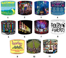 Glastonbury Festival Lampshades Ideal To Match Glastonbury Wall Decals & Sticker