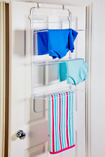 3 Tier Over the door Airer Folding Clothing Rack Bathroom Laundry Drying Rack