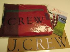 NEW  Authentic J.Crew  Wool scarf in oversized plaid /  red multi
